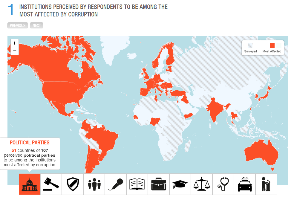 Transparency Map Visualization