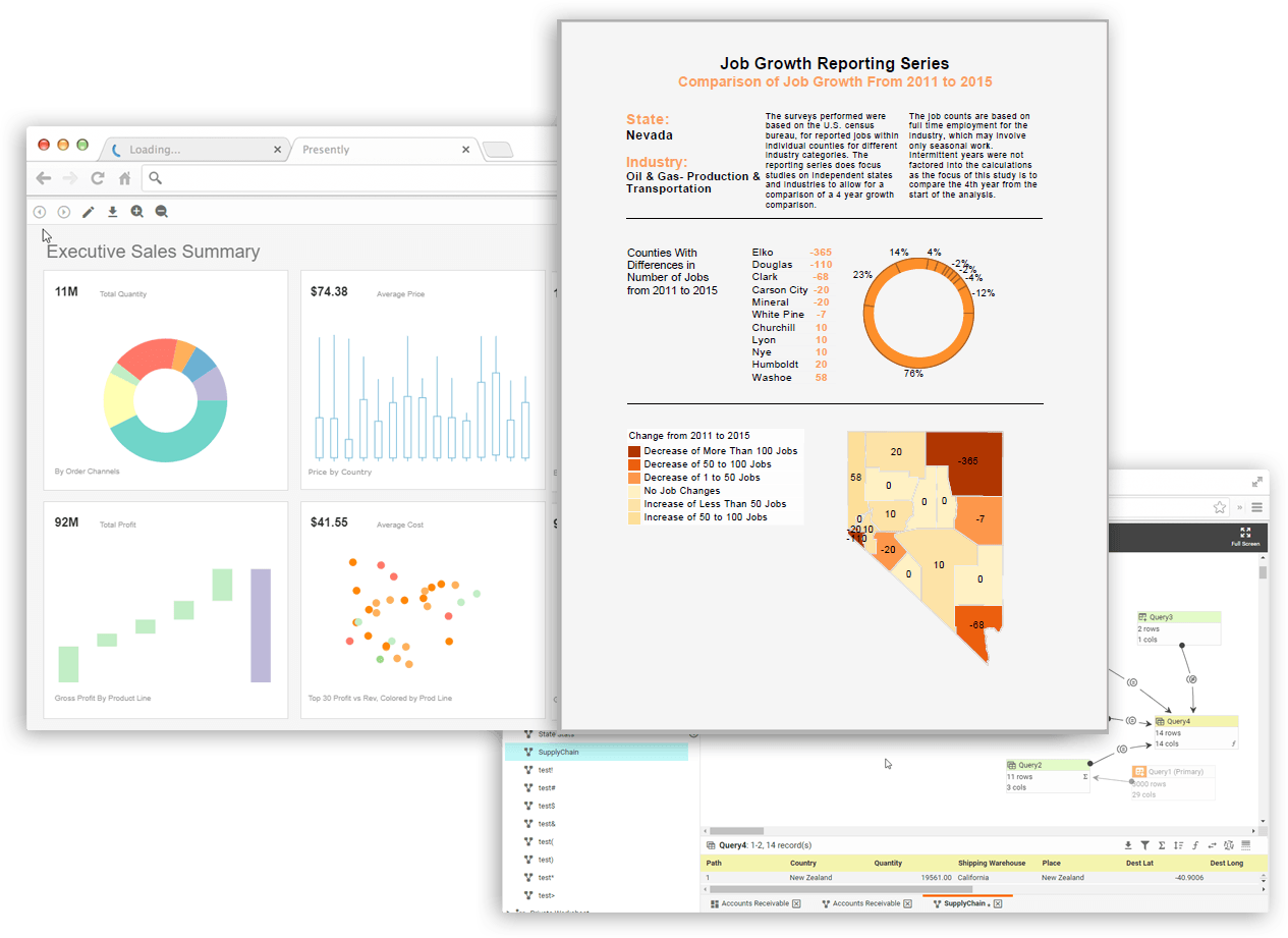 enterprise dashboard reports and document reports