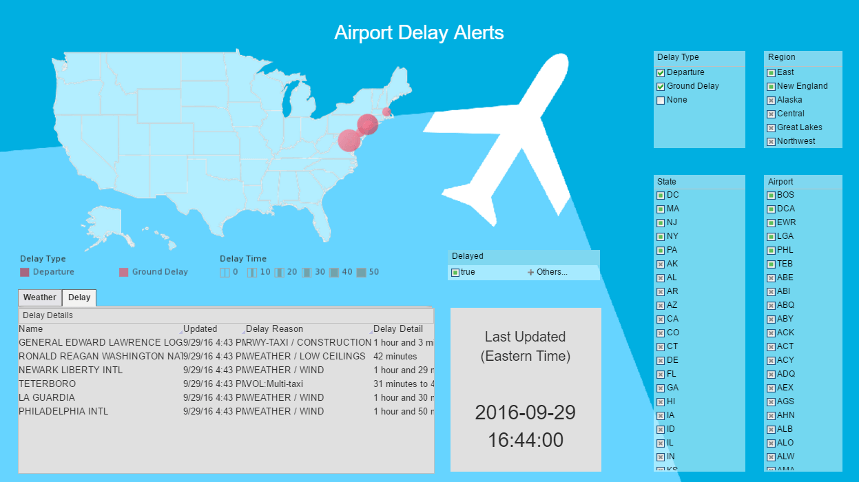 Interactive Airport Delay Visualization